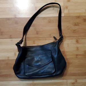 Fossil Black Soft Leather Hobo Shoulder Bag